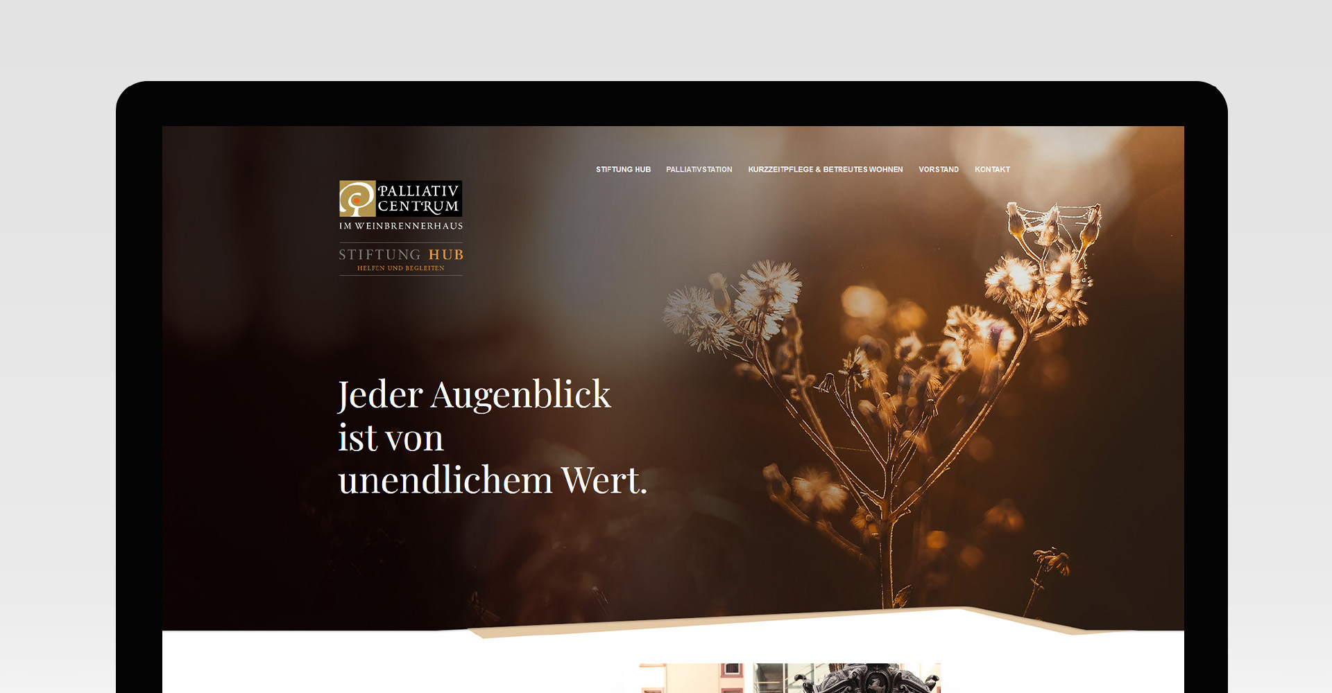 Stiftung HUB Webseite