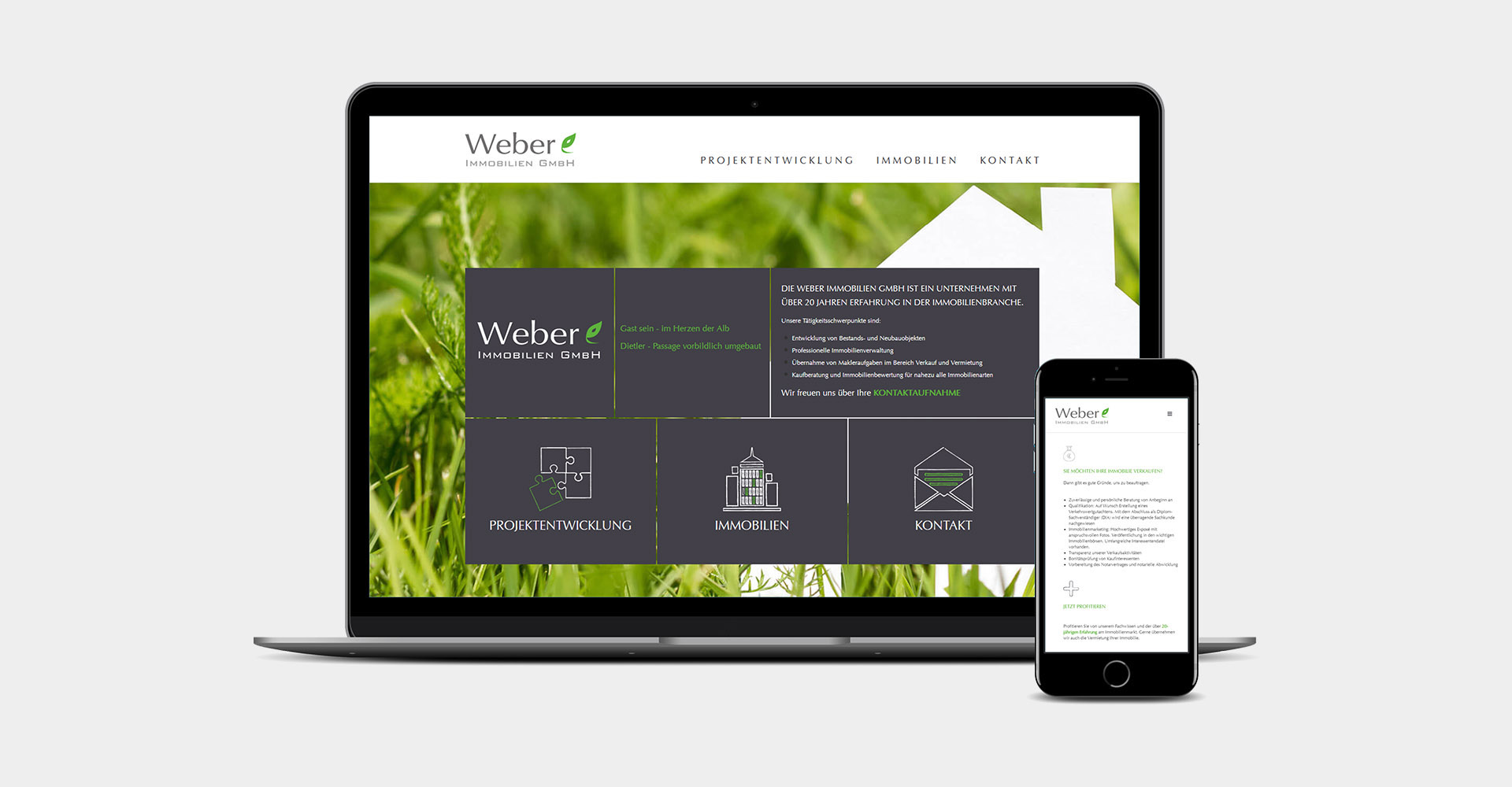 Website Weber Immobilien