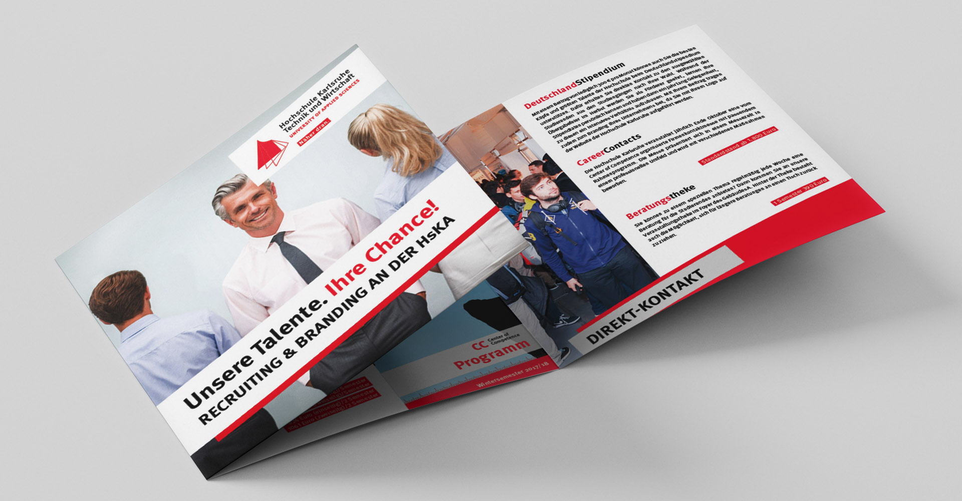 Imageflyer Hochschule Karlsruhe - careercontacts